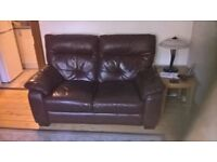 leather suite 3 and 2 seater, burgandy