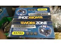 Work zone 800w generator brand new