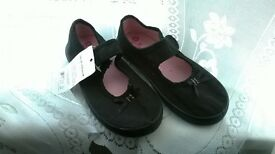 BRAND NEW - SIZE 10 BLACK CANVAS SHOES