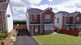 3 Bed Detached house To Rent - Braefield, Claudy. £600 pcm (Includes Rates).