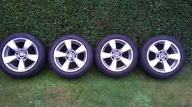 bmw e60 17 inch winter alloy wheels and tyres