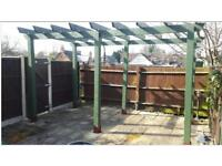 Very Large 6 post fully notched pergola £425 ono