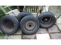 Winter tyres on steel wheels for Mondeo