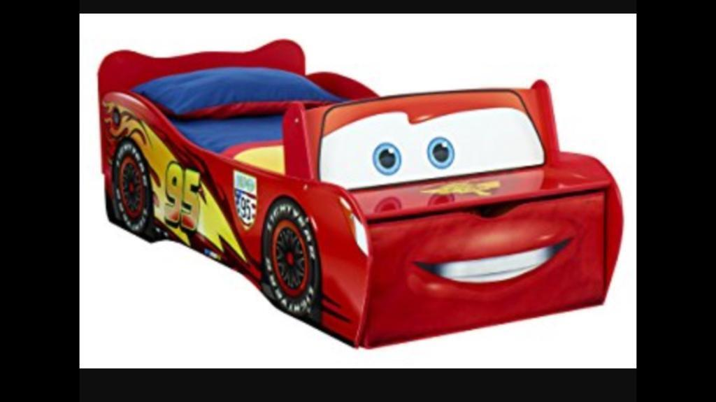 Disney's Lightening McQueen toddler bed and storage and mattress