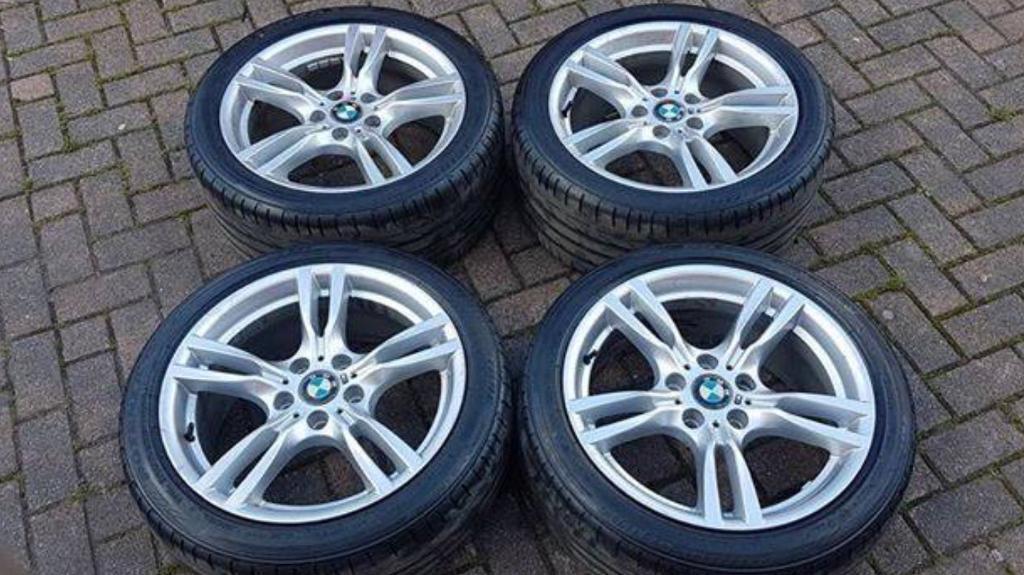 Genuine bmw 18 inch 400 m alloys and Bridgestone tyres