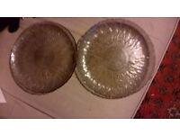 2 flower pattern Glass plates