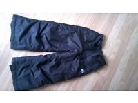 Black Kids Salopettes / Snow Trousers. Cherokee Aged 5 - 6