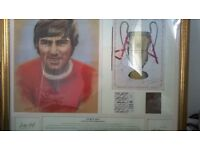 Signed George Best framed Picture