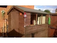 GOOD QUALITY GARDEN SHED 7X5 SHIPLAP/TONGUE & GROOVE WITH APEX ROOF