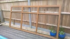 Used Conservatory Oak Effect, 24 mm Glazing, Garden project.
