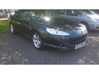 2007 PEUGEOT 407 COUPE 2.2 long mot, cream leather interior