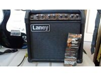 Fender Squier bullet start £90 and laney linebacker amp £60