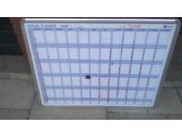 Magnetic calendar whiteboard excellent central London bargain