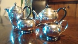 Silver epns tea service. Teapot, Coffee Pot, Sugar Bowl and Milk Jug. Beautiful Condition