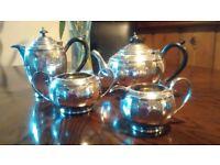 Silver epns tea service. Teapot, Coffee Pot, Sugar Bowl and Milk Jug. Beautiful Condition
