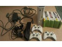 Xbox360 60gb +Kinect +Assorted games +3 controllers