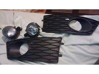 Seat Leon FR MK2 foglights and grilles - facelift