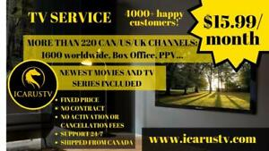 TV SERVICE 15.99$/month GUARANTEED SATISFACTION! 1800 Live TV Channels, Movies & TV Series, Sports, PPV and more!