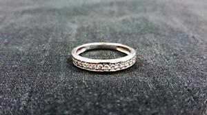 Ladies 14K White Gold Diamond Band