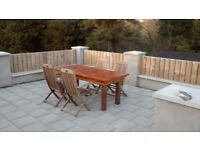 Table and chairs for patio £200