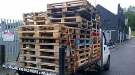 pallets ,ideal for garden furniture.