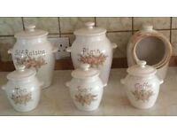 Set of 6 Ceramic kitchen storage containers