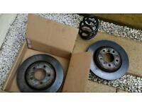 BMW e46 rear discs and 1 rear m sport spring .