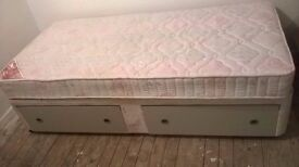 Single Divan Base and Mattress (as new condition)