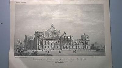 1882 60 Entwurf Reichstag Wallot Kirchturm Langenlipsdorf Jüterbog