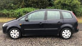 DIESEL FORD FOCUS C-MAX TDCI 1.6L (2005) 5 door year mot, cheap tax
