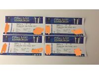 2 x adult and 2 x under 18 tickets champions cup final Edinburgh 13th May
