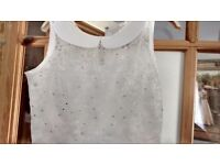 Size 8-10 white wedding dress