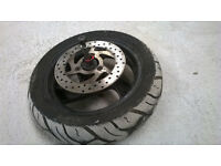 2001 Peugeot Elyseo 100 Front Wheel Disc and Spindle. 120/70-12