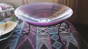 Large Purple Bowl on Stand AS NEW - Fruit Christmas Gift Home Dec Cairns Cairns City Preview