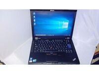 Lenovo thinkpad T410i-intel i3 processor,windows10,office,dvdrw,14inch screen,good battery,warranty