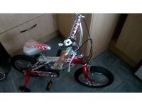 """Fure blaze boys bike with stabilizers, 13""""wheel"""