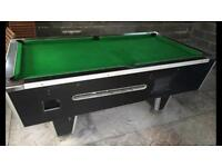 Full size pub slate pool table with lights