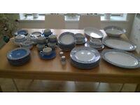 Dinner Set, tea set and serving platters (62 pieces)