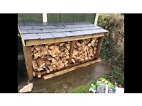 Slate roof wood store