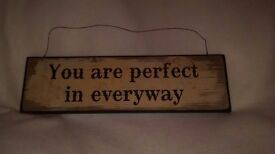 You Are Perfect in Everyway wall plack