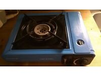 LIGHT PORTABLE CAMPINGAZ STOVE WITH CARRYING CASE AND GAS CARTRIDGES!