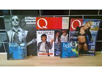 Q Magazine, first 212 sequential editions
