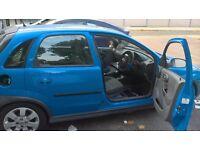 blue vauxhall corsa for scrap or repair