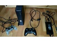 Xbox 360 console & 2 controllers