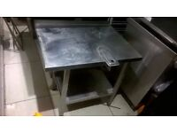 Stainless steel catering worktop corner unit excellent central London bargain