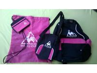 Le coq sportif backpack/purse/shoulder and sports bags. Pink/black. Brand new.