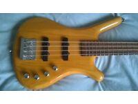 Warwick Rock bass Corvette active bass guitar + gig bag .