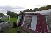 Caravan awning,