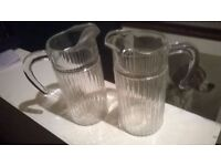 Pair of stylish 2 pint pitchers central London bargain