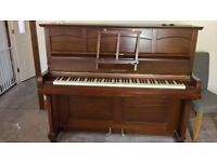Old upright accoustic piano, working order